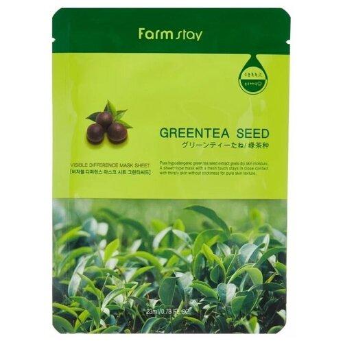 Купить Тканевая маска для лица с экстрактом семян зеленого чая, 23 мл, Farmstay (651928)