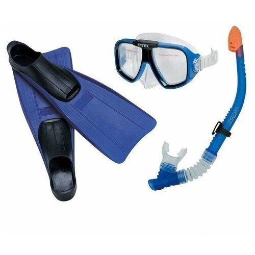 Фото - Набор для плавания INTEX (размер 38-40) от 8 лет (55957) набор для плавания intex aqua pro серый