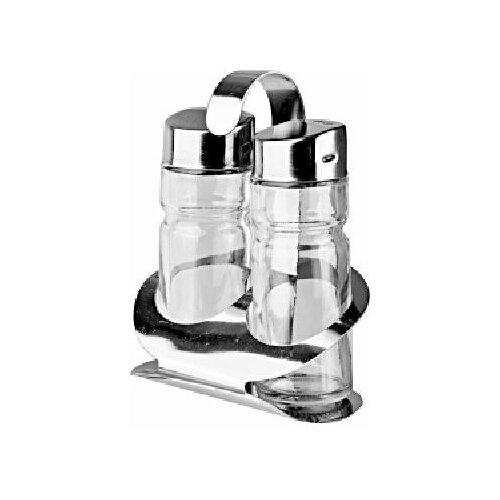 Фото - Набор для специй соль + перец; стекло,сталь; 35мл, Prohotel, арт. BF-2201 набор для специй tescoma club соль перец зубочистки салфетки арт 650332