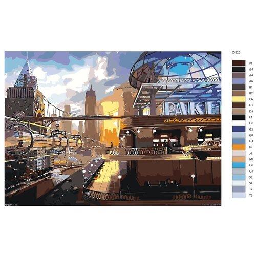 Картина по номерам «Автовокзал» 50х70 см (Z-326)