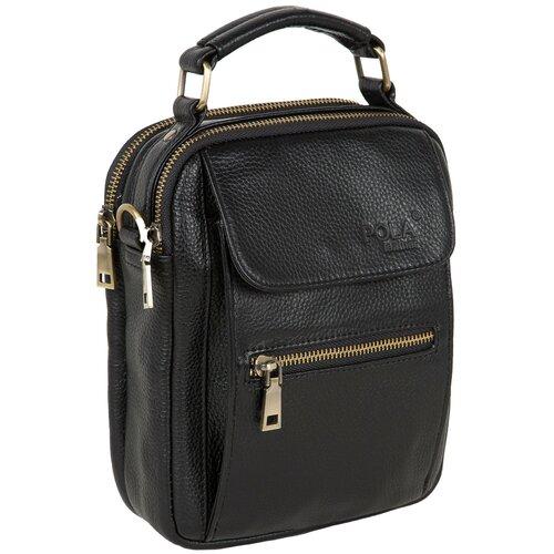 Мужская кожаная сумка 5121 Черная сумка polar polar po001bwfyur2
