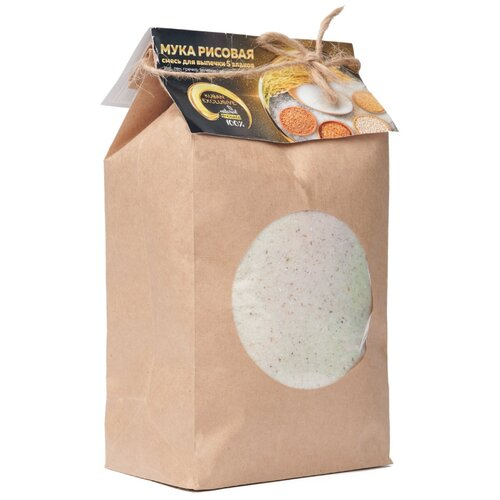 Мука рисовая - 5 злаков. 300 гр (рис, лен, гречка, зеленая гречка, пшеница, ячмень)