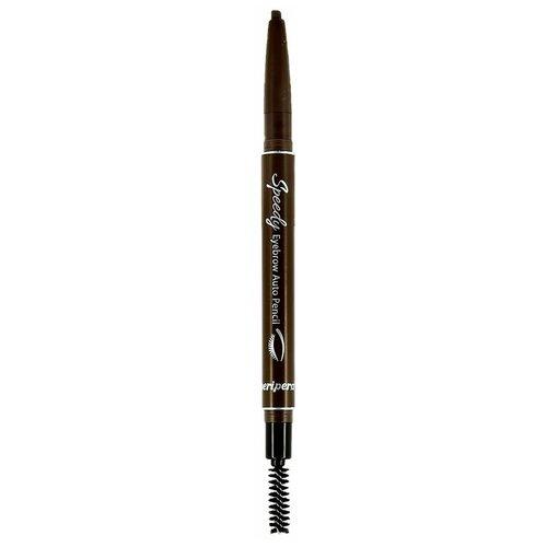 Купить Peripera карандаш для бровей Speed Brow Auto Pencil, оттенок 002 серо-коричневый