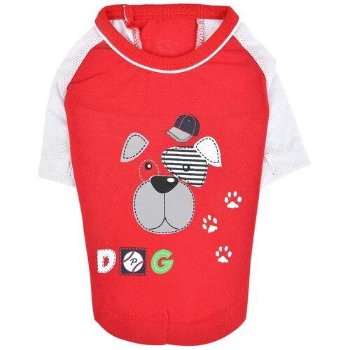 Футболка для собак Puppia Sniffer S красный