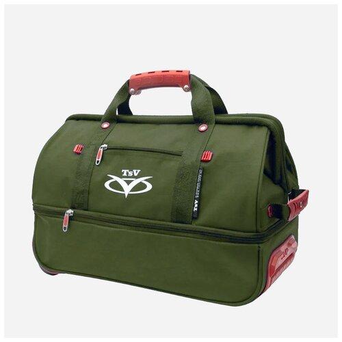 Дорожная сумка-саквояж TsV 514.32 хаки с колёсами 138513