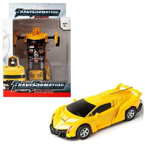 Купить Робот-трансформер в машину, 13х19х9 см, Junfa toys, Роботы и трансформеры