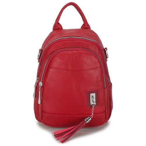 Маленькая женская сумка-рюкзак «Элли Soft» 1256 Red