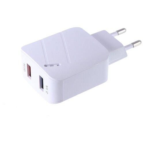 Фото - Зарядное устройство Media Gadget HPS-2QCU 2xUSB 2.1A/3.1A Quick Charge 3.0 White MGHPS2QCUWT зарядное устройство media gadget hps 110uc usb type c power delivery white mghps110ucwt