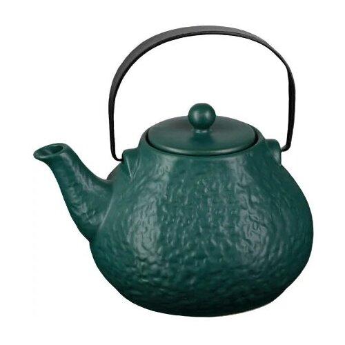 Фото - Заварочный чайник 900мл Рябь с ситом, зеленый чайник заварочный 0 95л rose зеленый