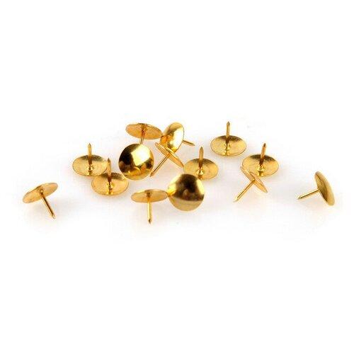 Купить Кнопки Attache, 10 мм, 100 шт (золотистый), Скрепки, кнопки