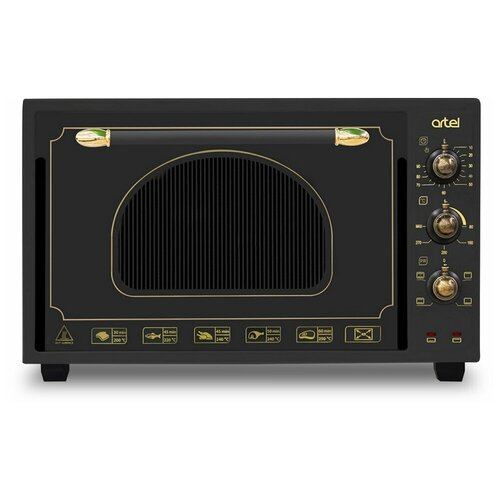 Мини печь ARTEL MD 3618 L черная (ретро)