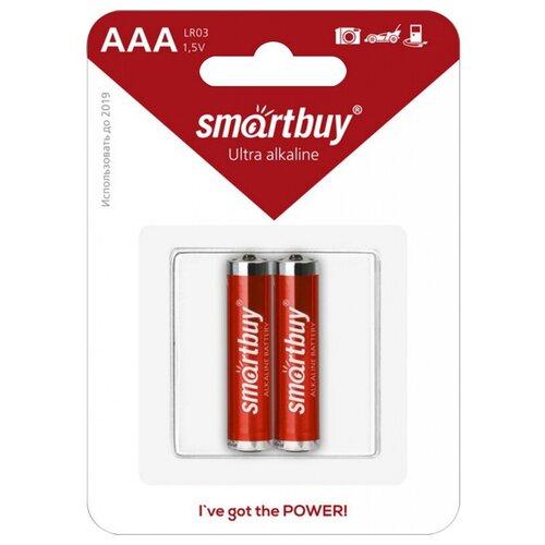 Фото - Батарейка SmartBuy AAA LR03 Ultra Alkaline, 2 шт. батарейка aaa ergolux lr03 alkaline bl 4 lr03 bl 4