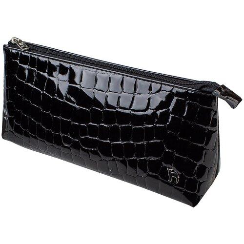 Фото - Косметичка Mumi ДАНДИ черный крокодил 166-16, натуральная кожа обложка для документов mumi mumi mu010dmiokz6