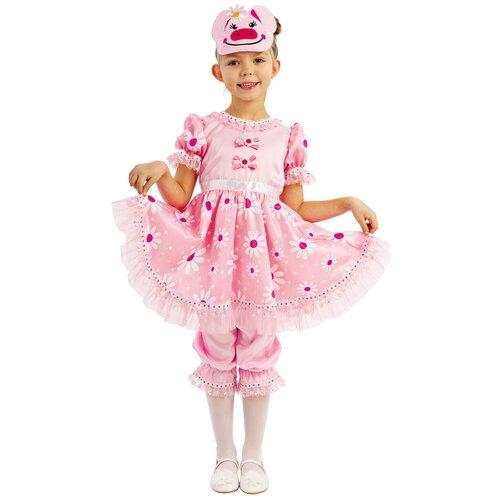 Купить Костюм пуговка Свинка Дуся (1050 к-19), розовый, размер 110, Карнавальные костюмы