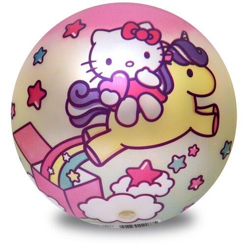 Фото - Мяч ЯиГрушка Hello Kitty, 15 см, розовый/желтый мяч яигрушка hello kitty 15 см розовый желтый