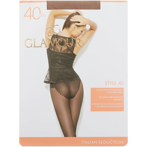 Колготки Glamour Style, 40 den, размер 4-L, miele (бежевый)