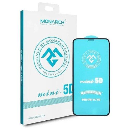Защитное стекло Monarch 5D для Apple iPhone 11 / XR черный/прозрачный защитное стекло luxcase 2 5d fg для apple iphone xr белый
