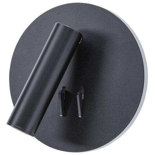 Спот Arte Lamp Electra A8232AP-1BK, цвет арматуры: черный, цвет плафона: черный светильник трековый спот arte lamp electra a8232ap 1bk 9w led