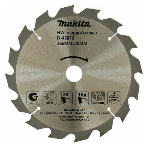 Пильный диск Makita D-45870 165х20 мм пильный диск makita standard d 45864 165х20 мм