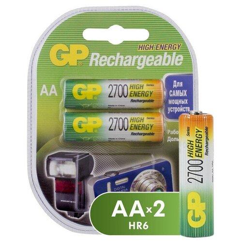 Аккумулятор GP 2700mAh AA/HR6 NiMh бл/2шт аккумулятор gp 1000mah аaa hr03 nimh бл 2шт