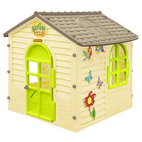 Купить Домик Mochtoys Детский 11558, желтый/серый/зеленый, Игровые домики и палатки