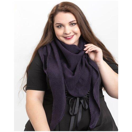 Женский теплый шарф-платок из шерсти, ТМ Reflexmaniya, RN168-Сине-фиолетовый.