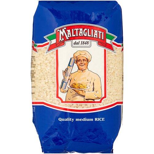 Рис Maltagliati шлифованный круглозерный 900 г