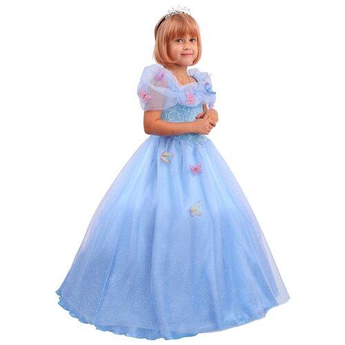 Фото - Костюм пуговка Золушка сказочная (2093 к-20), голубой, размер 128 костюм пуговка кузнечик 2080 к 20 зеленый размер 128
