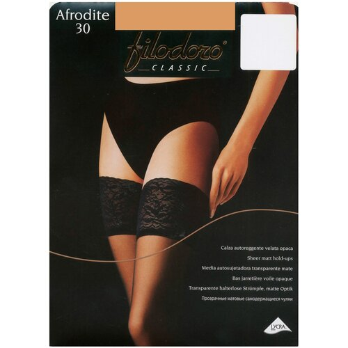 Чулки Filodoro Classic Afrodite, 30 den, размер 3-M, glace (коричневый)
