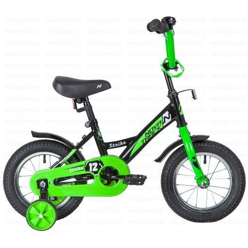 Фото - Детский велосипед Novatrack Strike 12 (2020) черный/зеленый (требует финальной сборки) детский велосипед novatrack twist 20 2020 зеленый требует финальной сборки
