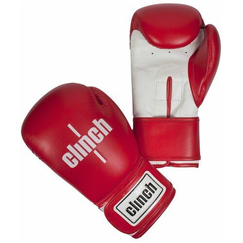Боксерские перчатки Clinch Fight красный/белый 10 oz