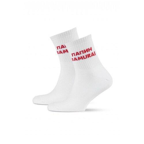 Носки St. Friday Мамин негодяй папин самурай, размер 34-37, белый носки st friday кислотный диджей размер 34 37 белый