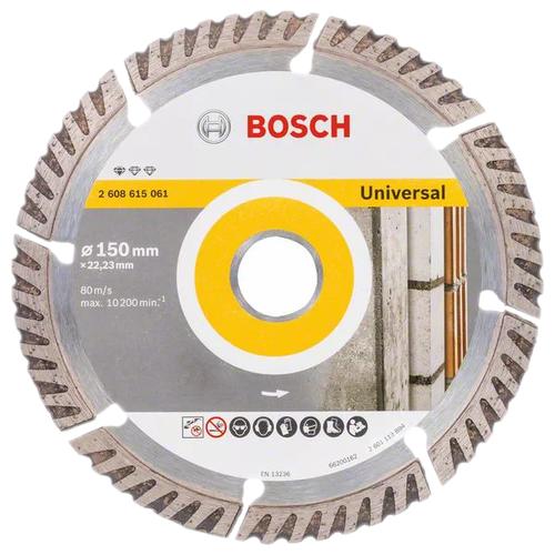Фото - Диск алмазный отрезной BOSCH Standard for Universal 2608615061, 150 мм 1 шт. диск алмазный отрезной bosch standard for ceramic 2608602201 115 мм 1 шт