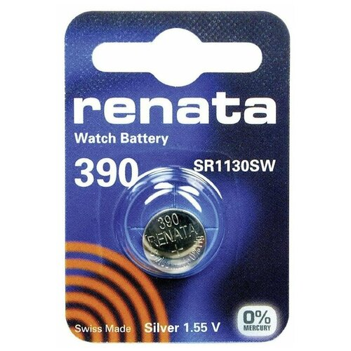 Фото - Батарейка Renata 390 SR54, 1 шт. батарейка renata r 317 sr516sw 1 шт
