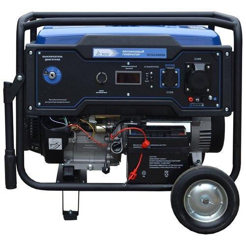 Бензиновый генератор ТСС SGG 6000EHNA (6000 Вт) инверторный бензиновый генератор тсс ggw 5 0 200ed r 22957 сварочный 98кг бензин 5квт 220 12в