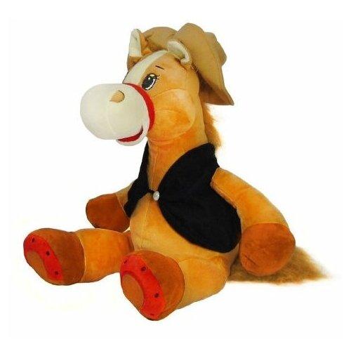 Мягкая игрушка Лошадка-ковбой 35 см