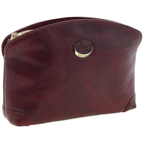 Косметичка Tony Perotti Topkapi gioil, женская, натуральная кожа, бордовый
