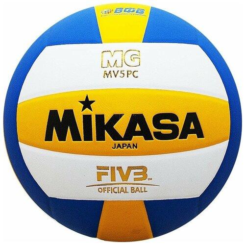 Волейбольный мяч Mikasa MV5PC белый/синий/желтый