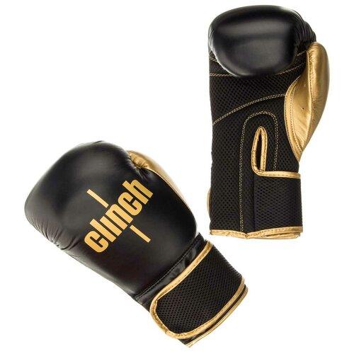 Боксерские перчатки Clinch Aero черный/золотой 12 oz