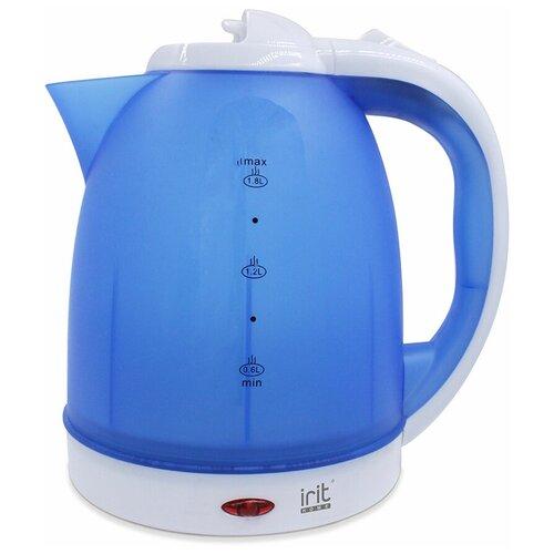 Фото - Чайник irit IR-1231, blue/white чайник irit ir 1603 белый желтый