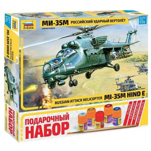 Сборная модель ZVEZDA Российский ударный вертолет Ми-35М (7276ПН) 1:72 сборная модель zvezda российский десантно штурмовой вертолет ми 8мт 7253pn 1 72
