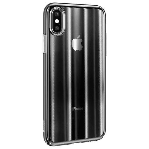 Фото - Чехол-накладка Baseus Aurora case для Apple iPhone X Transparent Black чехол накладка baseus thin case для apple iphone x black