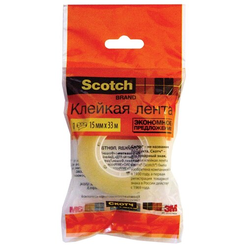 Scotch Клейкая лента 500-1533