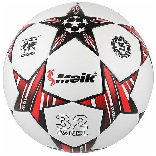 R18028-4 Мяч футбольный Meik-098 4-слоя TPU+PVC 3.2, 400 гр, термосшивка