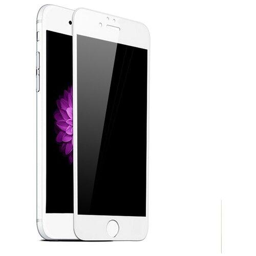 Полноэкранное защитное стекло для телефона Apple iPhone 6 и iPhone 6S / Ударопрочное стекло на смартфон Эпл Айфон 6 и Айфон 6С / Закаленное стекло с олеофобным покрытием на весь экран / Full Glue Premium Glass от 3D до 21D (Белый)