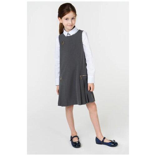 Сарафан Маленькая Леди размер 122, серый