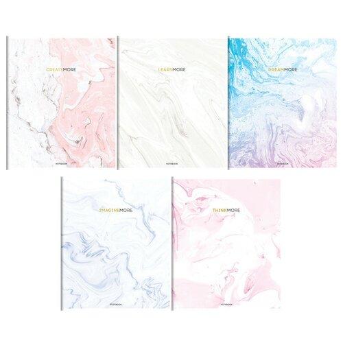 Greenwich Line Упаковка тетрадей Стиль. Colortouch N5c60-18936 5 дизайнов/5 шт., клетка, 60 л., голубой/белый/розовый greenwich line тетрадь лайт vision beauty nr4a5 30730 клетка 80 л белый голубой розовый