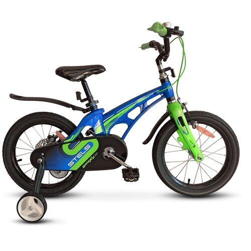 детский велосипед yibeigi v 14 синий Детский велосипед STELS Galaxy 14 V010 (2021) синий/зелёный (требует финальной сборки)