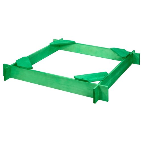 Песочница PAREMO Ника, 117х117 см, зеленый