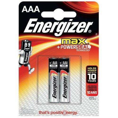 Фото - Батарейка Energizer Max AAA/LR03, 2 шт. батарейка energizer max aaa lr03 алкалиновая 4bl
